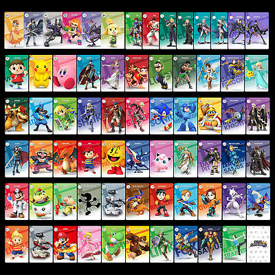 New Data Super Smash Bros. Ultimate 68PCS PVC NFC Tag Game Cards SSBU for Switch