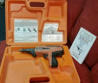 ITW Ramset Red Head D60 Low Velocity Powder Actuator Fastener Tool Case, Manual!