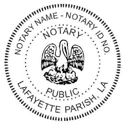 State of Louisiana  | Custom Round Self-Inking Notary Public Stamp Ideal 400R