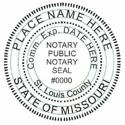 State of Missouri  | Custom Round Self-Inking Notary Public Stamp Ideal 400R