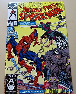 18-C0625: Deadly Foes of Spider-Man # 1, 1991, VF/NM 9.0!