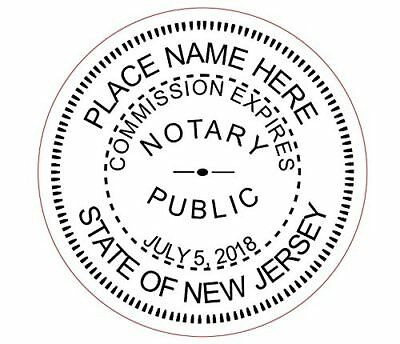 State of New Jersey | Custom Round Self-Inking Notary Public Stamp Ideal 400R