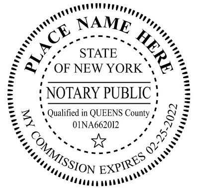 State of New York | Custom Round Self-Inking Notary Public Stamp Ideal 400R