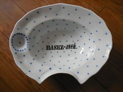 ANCIEN PLAT A BARBE EN FAIENCE 19eme siecle