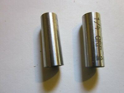 """Pair of Tapered Drill Guide Bushings 1/4' OD Hole Tapers to 3/16"""" UDB758735 NEW"""
