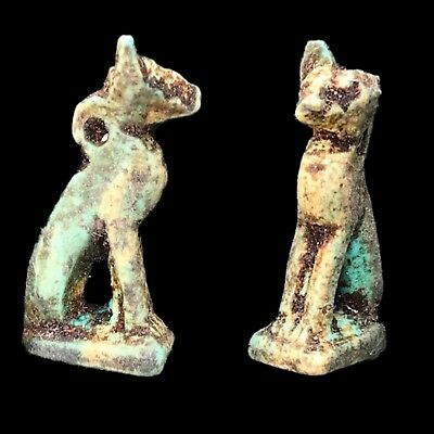 Beautiful Ancient Egyptian Bastet Amulet 300 Bc