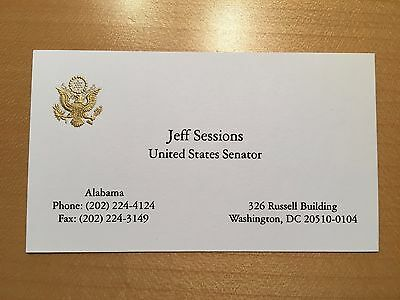 Official us senate business card president trump attorney general official us senate business card president trump attorney general jeff sessions colourmoves