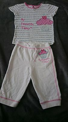 ~Girls Tracksuit bottoms age 4-5 Top CUPCAKE OUTFIT  trousers GORGEOUS ExcCond~