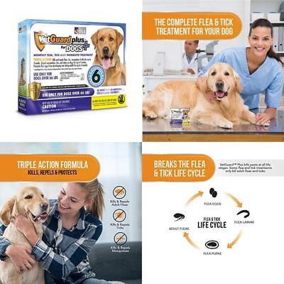 VetGuard Plus Flea & Tick Treatment for X-Large Dogs Over 66 lbs 6 Month Sup