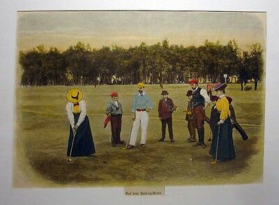 Golf , am dem Putting - Green - Stich v.1898
