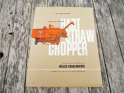 Vintage Allis Chalmers 60 And 66 Harvester Combine Straw Chopper Brochure
