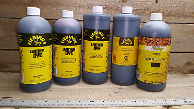 Fiebings Leather Dye 32oz bottle 5 Colors Available***Special Buy