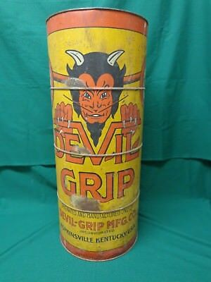 """Devil Grip tire patch counter display can, 24"""" tall, 3 shelves in back VERY RARE"""
