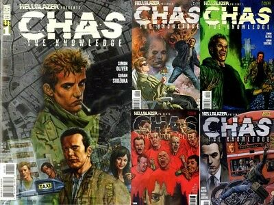 ~# HellBlazer Presents: Chas: The Knowledge - #1-#5 COMPLETE - Near Mint #~