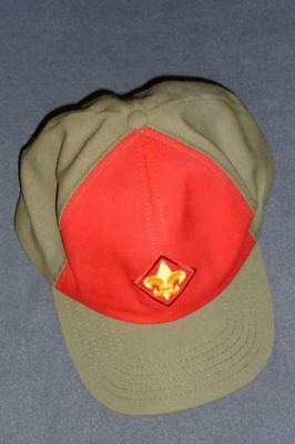 BSA Boy Scout of America Hat Cap ~ Size M/L Olive Green with Red and Logo Twill