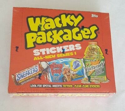 2004 Topps Wacky Packages All New Series 1 Sealed Wax Box ANS1 24 Packs per Box