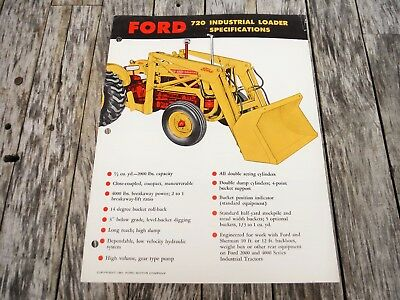 Vintage Ford 720 Industrial Loader Brochure Nice Nr Auction!