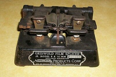 VTG GRISWOLD FILM SPLICER JR MODEL 8 16mm MOTION PICTURE NEUMADE NEW YORK NY OLD