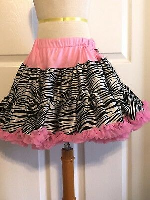 Adorable cute chic by tutu couture size 7 8 9 7-9 year olds dance zebra pink hot
