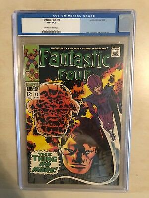 Fantastic Four 78 !! Cgc 9.2 !! Classic S.a. !! Awesome Book !! White Pages !