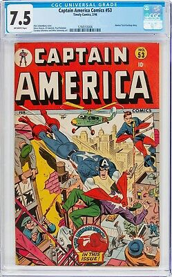 Timely Captain America Comics #53 - CGC 7.5 - 1946 - Human Torch - Golden Age