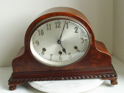 Vintage Westminster Chime Mantle Clock with Oval Face German movement