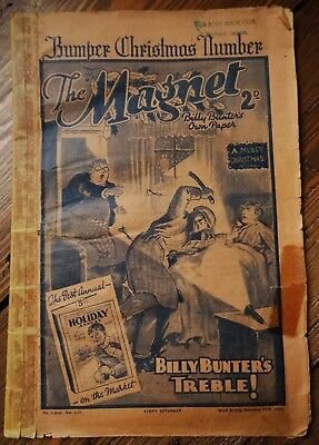 The Magnet, Billy Bunter's Own Paper (Christmas 1938) Vintage Boy's Comic