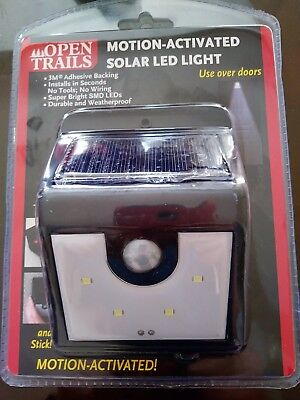 Motion Activated Solar LED Light 2 PACK - In or Outdoor *Works in GREAT in Shade