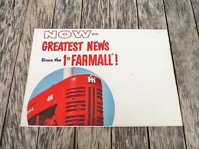 Vintage Ih Farmall Cub 100 200 300 400 Tractors And Farm Equipment Brochure