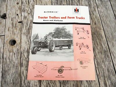 Vintage Ih Farmall Mccormick Tractor Trailers And Farm Trucks Wagon Brochure