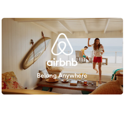 Buy a $200 Airbnb Gift Card, get an addt'l $20 on your card ($220 value) Emailed