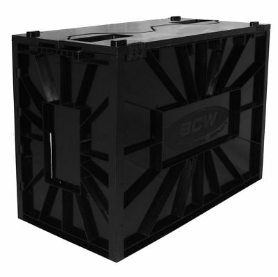 Bcw Black Plastic Short Comic Book Bin - In Stock And Ready To Ship