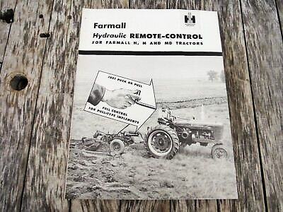 Vintage Ih Farmall Hydraulic Remote Control For H, M And Md Tractors Brochure