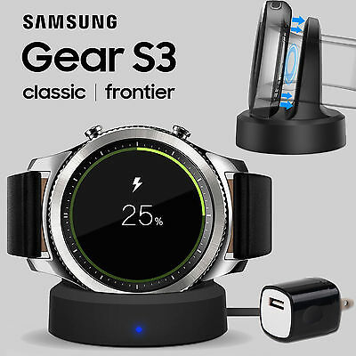 Wireless Charger For Samsung Gear S3 Smart Watch USB Cable Charging Dock Cradle