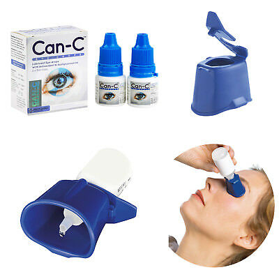 Can-C Eye Drops 2x 5ml for Cataract Treatment with Eye Drop Guide Bundle