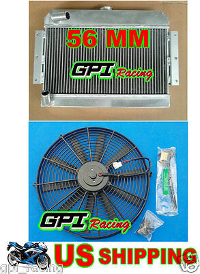 Gpi Mgb Gt/roadster Top-Fill 1968-1975 69 70 71 72 73 74 Aluminum Radiator + Fan