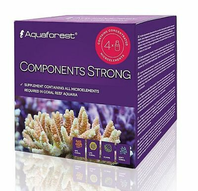 Aquaforest Components Strong Set Supplement Containing Microelements 4 x 75ml UK