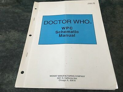 Arcade Game, Arcade Logic, Midway Pinball Doctor Who WPC Schematic Manual