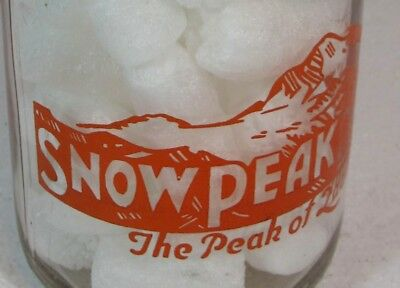 Rare Snow Peak Dairy Oregon ? Trpq Milk Bottle Yours To Love Ours To Protect