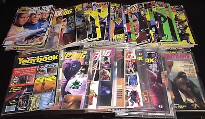 Huge STARLOG Magazines Lot of 52 Total, Many In Sleeves, Various Featured Stars