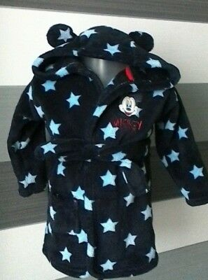 Baby Boys Dressing Gown Robe Disney Mickey Mouse 9-12 months Blue