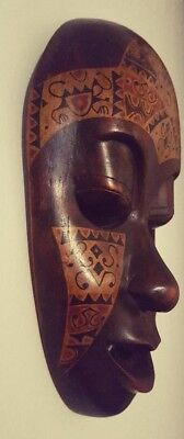 Indonesian Tribal Mask Wood Décor Great Condition Wall hanging