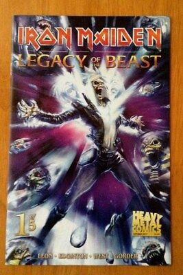Iron Maiden Legacy of the Beast 1 Cover A  Santi Casas 1st Print Heavy Metal NM
