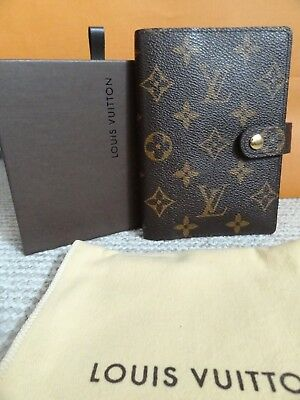 Authentic Pre-owned Louis Vuitton Monogram Small PM Agenda w/Box and dustbag