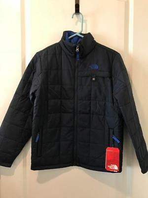 The North Face Boys Harway Insulated Jacket Full Zip NWT Cosmic Blue MSRP $80.00