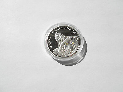 Belarus 2007 20 Rubles Wolves Proof .999 Silver Coin SWAROVSKI® Crystals