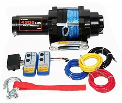 X-BULL 12V 4500LBS Electric Synthetic Rope ATV Winch Kits Off Road With Remote