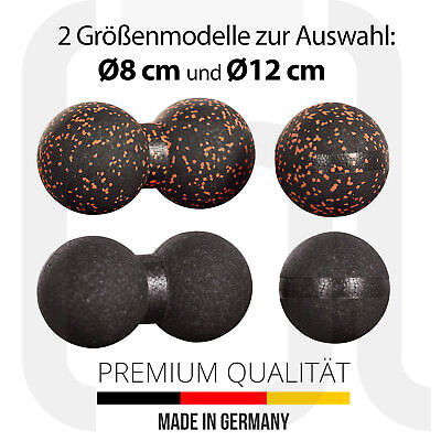 2er Original Massageball Set Premium 8/12cm Faszienball Faszienkugel Doppelball