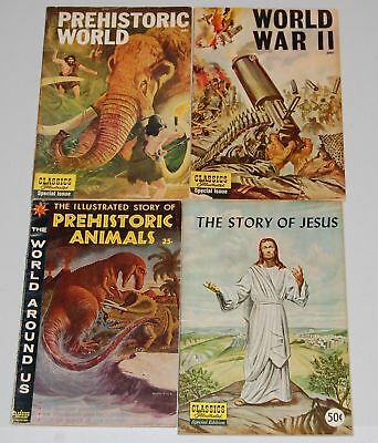 CLASSICS ILLUSTRATED Special Edition Silver Age 4pc Lot War Jesus Prehistoric