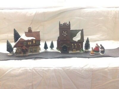 """Department 56 """"The Spirit of Giving Set"""" from the Dickens Village Series"""